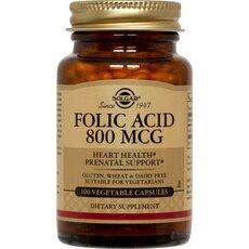 Solgar Folacin (Folic Acid) 800ug Αναιμία 100 Tablets, fig. 1