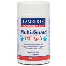 LAMBERTS Multi Guard For Kids Πολυβιταμινούχα Φόρμουλα για Παιδιά 4-14 Ετών 30 Tablets