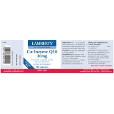 LAMBERTS Co-Enzyme Q10 30mg 60 Capsules, fig. 2