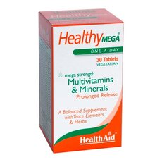 HEALTH AID Healthy MEGA Multivitamin & Minerals, 30Tabs, fig. 1