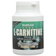 HEALTH AID L-Carntitine 550mg + VitB6, 30Tabs, fig. 1