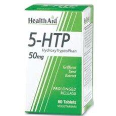 HEALTH AID 5-HTP 50mg Tryptophan 60 Veg Caps, fig. 1