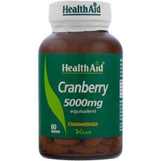 HEALTH AID Cranberry 5000mg Extract 60Tabs, fig. 1