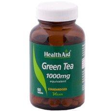 HEALTH AID Green Tea 1000mg Αντιοξειδωτική Δράση & Αδυνάτισμα 60 VegCaps