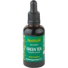 HEALTH AID Green Tea Liquid Για Αντιοξειδωτική Δράση & Αδυνάτισμα 50ml