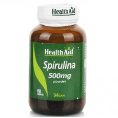 HEALTH AID Spirulina 500mg 60 Veg Tabs, fig. 1