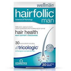VITABIOTICS Wellman Hairfollic Men Συμπλήρωμα για την Ανδρική Τριχόπτωση 60s