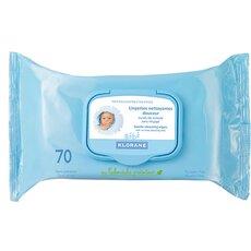 KLORANE Lingettes Nettoyantes Douceur Υγρά καθαριστικά μαντηλάκια για περιποίηση και φροντίδα του μωρού,70 Τεμάχια