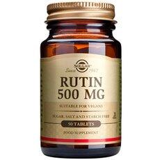 Solgar Rutin 500mg Κιρσώδεις Φλέβες Ουλίτιδα Περιοντίτιδα 50 Tablets, fig. 1