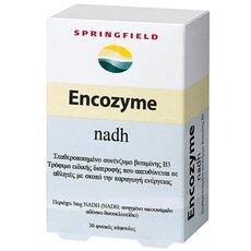 Springfield Encozyme NADH 5mg Σταθεροποιημένο συνένζυμο βιταμίνης Β3, γνωστό επίσης και ως συνένζυμο 1 30 Κάψουλες, fig. 1