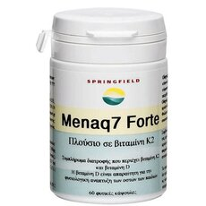 Springfield menaq7 forte 180mcg vit. K2 + 5mcg vit D Συμπλήρωμα διατροφής που περιέχει βιταμίνη Κ2 και βιταμίνη D 60 Κάψουλες, fig. 1