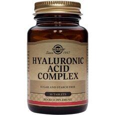 Solgar Hyaluronic Acid Complex Σύμπλεγμα με Υαλουρονικό Οξύ & Κολλαγόνο 30Tablets, fig. 1