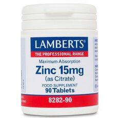 LAMBERTS Zinc 15mg (Citrate) Ψευδάργυρος 90 Ταμπλέτες