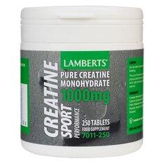 LAMBERTS Creatine 1000mg Κρεατίνη 250 Ταμπλέτες