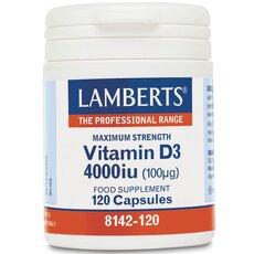 LAMBERTS Vitamin D3 4000iu (100μg) 120 Tablets