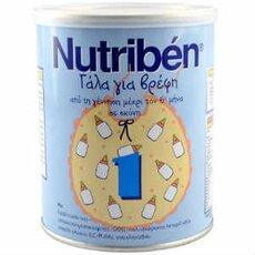 NUTRIBEN 1 Γάλα για Βρέφη 0-6 Μηνών, 400gr, fig. 1