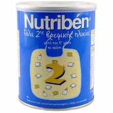NUTRIBEN 2 Γάλα για Βρέφη 6 - 12 Μηνών, 400gr, fig. 1