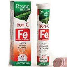 POWER HEALTH Iron + C Σίδηρος 20 Αναβράζοντα Δισκία, fig. 1