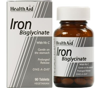 HEALTH AID Iron Bisglycinate (Iron with Vitamin C) 90Tabs, fig. 1